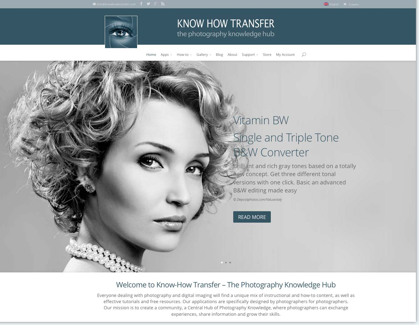 The Home Page of Know-How Transfer - The Photography Knowledge Hub Website
