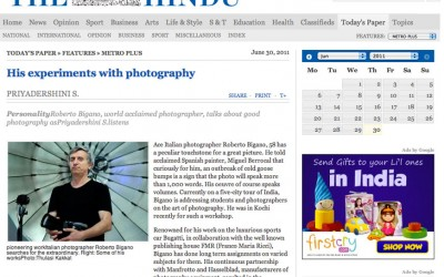 The Hindu | Roberto Bigano. His experiments with photography